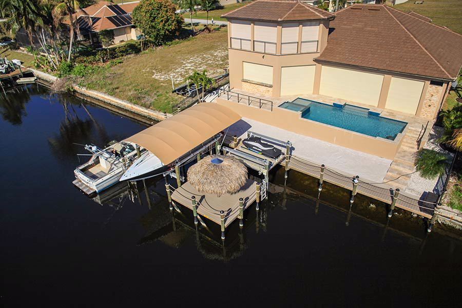 6-1-20k-LB-Boat-Lift,-Jet-Ski-Lift,-Sure-Step-Platform,-Tiki-Hut,-Boat-Lift-Cover