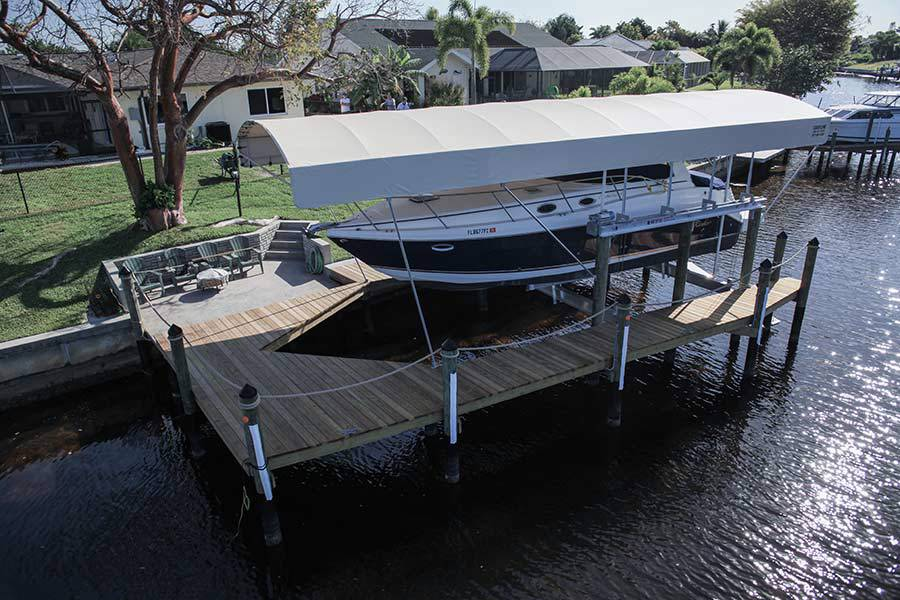 8-1-Boat-Lift-Cover,-Wrap-Around-Dock,-20k-LB-Boat-Lift