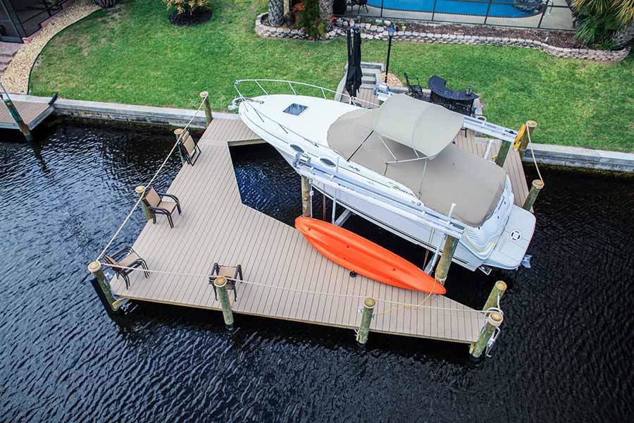 9-1-Wrap-Around-Dock,-13k-LB-Boat-Lift